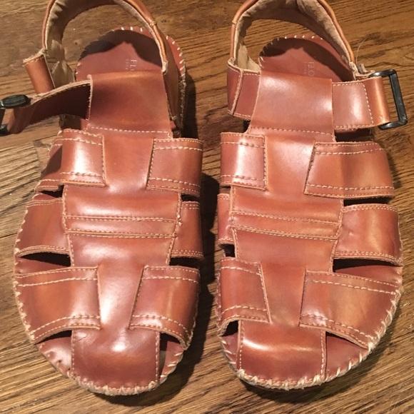 Florsheim Mens Leather Sandals Brown